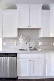 glass subway tile kitchen backsplash gray glass tile grey backsplash contemporary kitchen