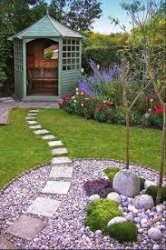 Backyard Pebble Gravel Garden Designers Roundtable Designers Home Landscapes Gardens
