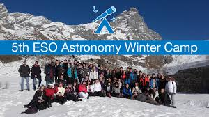 fifth eso astronomy winter camp for secondary students eso