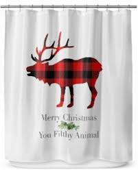 Red Black Shower Curtain Deal Alert Kavka Designs Filthy Animal Shower Curtain 70 X 72
