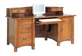 Oak Corner Computer Desk With Hutch Solid Wood Corner Computer Desks For Home Solid Pine Wood Office