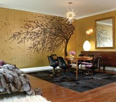 Dramatic  Decadent Decor Ideas From Anne Coyle  CS Interiors - Gold wall color living room
