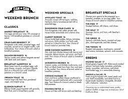 menu for brunch brunch menu can can