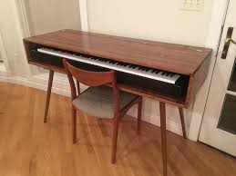 mid century style keyboard stand desk made to order 120 days