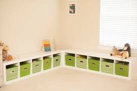 Corner Storage Bench Modern Kids Room With Corner Toy Storage Bench White Wood