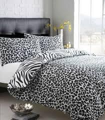single size black u0026 white zebra print with leopard reverse