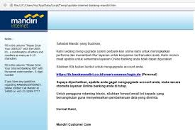 email mandiri waspada nasabah bank diincar rok online howmoneyindonesia com