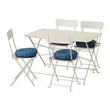 Ikea Folding Table And Chairs Saltholmen Table And 4 Folding Chairs Outdoor Saltholmen Beige