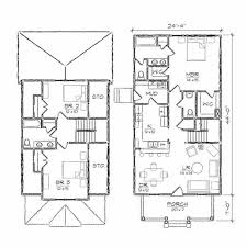 simple two story rectangular house design two kitchen house plan