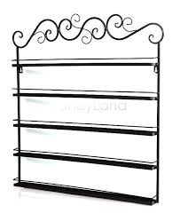 5 layers 3 pcs set hanging wrought iron art nail polish wall rack