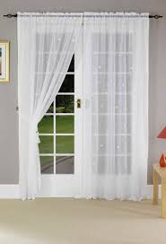 home design french doors with curtains window treatments