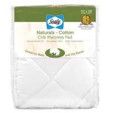 Cotton Crib Mattress Pad Sealy Naturals Cotton Crib Mattress Pad Boscov S