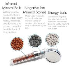Negative Energy Removal by Replacement Bio Active Stone 1655filtration Shower Head Negative
