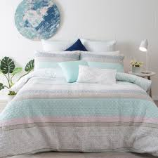 tahiti light pink quilted quilt cover set pillow talk