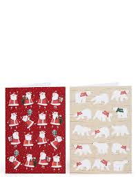 santa polar charity cards pack of 20 m s