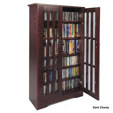 Cd And Dvd Storage Cabinet With Doors Oak Finish Leslie Dame Cd Storage Cabinet With Glass Doors Oak Walnut Or