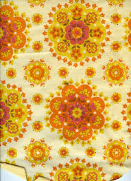 60 S Design Textures And Surfaces Wallpaper 60s 70s Yellow Orange Floral