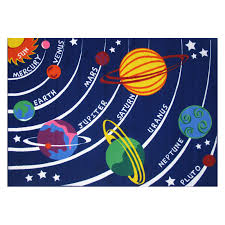 La Rugs Fun Rugs Fun Time Ft 170 Solar System Area Rug Multicolor