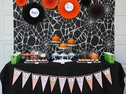 party city lubbock halloween costumes halloween party decorations with spiders stock photo image
