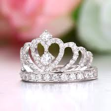 crown rings jewelry images 925 sterling silver princess crown ring with cz inlaid 925 rings jpg