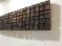 unique wooden wall art 40 x 12 x 2 home
