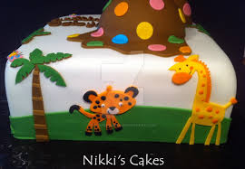jungle baby shower cakes jungle babyshower cake side view by corpse on deviantart
