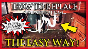 how to fix cabinet bottom how to replace rotten sink base cabinet bottom the easy way mold water damage