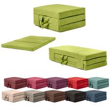 Foldable Sofa Bed Mattress by Fold Out Guest Mattress Foam Bed Single U0026 Double Sizes Futon Z Bed