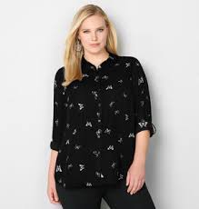 black button blouse womens button tunic shirt blouse from avenue