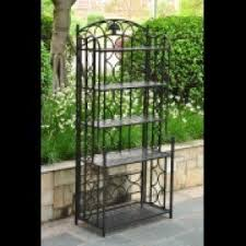 Bakers Rack Wrought Iron Wrought Iron Bakers Rack Outdoor Foter