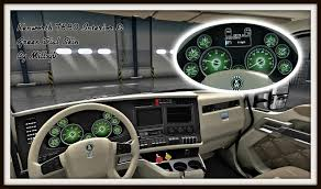 2016 kenworth t680 price kenworth t680 interior u0026 green dial skin ats mods