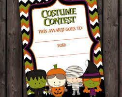 Halloween Costume Contest Ribbons Costume Contest Etsy