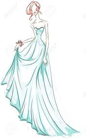 in gown sketch stock photo picture and royalty free image