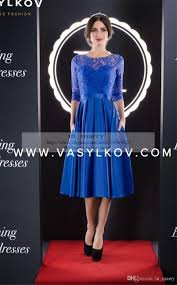 blue plus size short mother off bride groom dresses pockets 2016 a