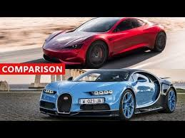 Bugatti Meme - tesla roadster vs bugatti chiron comparison electric cars ftw
