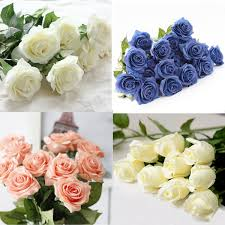 Flowers Decoration At Home 10 Heads Real Latex Touch Rose Flowers Bouquet Wedding Home