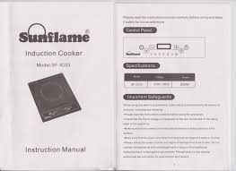 sunflame induction stove sf ic03 user manual srikanth u0027s blog