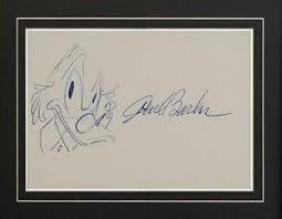 autograph carl barks donald duck sketch walt disney cartoon signed