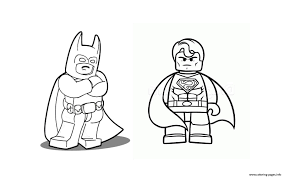 batman superman lego 2016 coloring pages printable