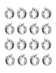 printable apple coloring sheet vanessa craft