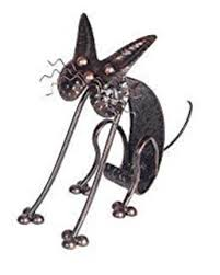 forestfox metal cat garden ornament bronze lacquer effect wobbly