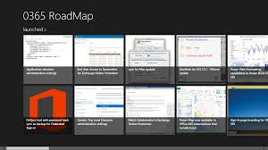 new o365 roadmap windows 8 app tom van gaever