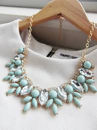 long crystal statement necklace images Mint green jewel crystal statement necklace on luulla jpg