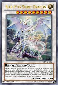 blue eyes spirit dragon yugioh ocg by yeidenex on deviantart