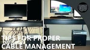 Computer Desk Cord Management Computer Desk Cord Management Diy Computer Desk Cable Management