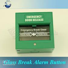 break glass door release best emergency exit door release glass break alarm button for