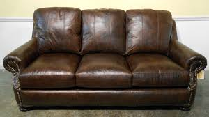 Distressed Leather Sofa Brown Living Room Large Dark Brown Leather Sectional Couch With Chaise