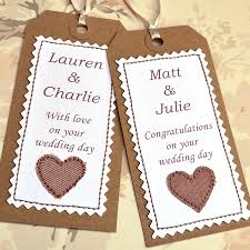 wedding tags personalised wedding gift tags imbusy for