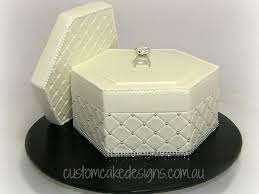 engagement ring box cake cakecentral com