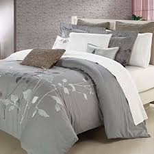 bedroom queen duvet covers design with standing lamp and grey